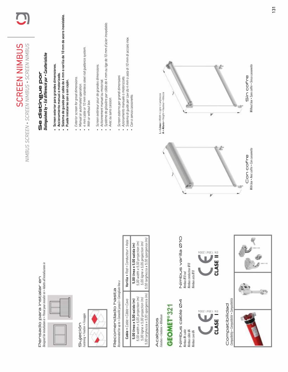 Pagina 3 - Rulou exterior GAVIOTA NIMBUS Fisa tehnica Engleza, Franceza, Italiana, Spaniola