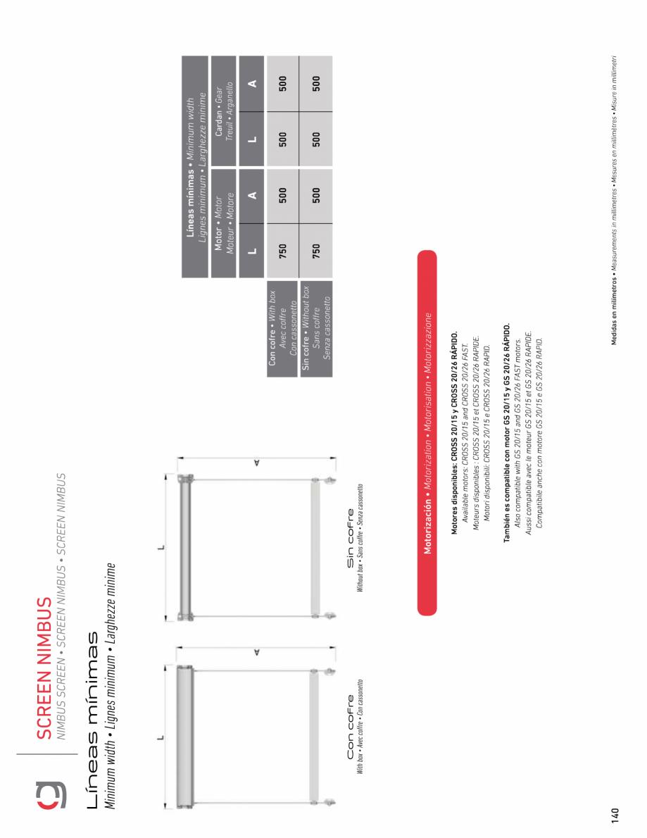 Pagina 12 - Rulou exterior GAVIOTA NIMBUS Fisa tehnica Engleza, Franceza, Italiana, Spaniola
