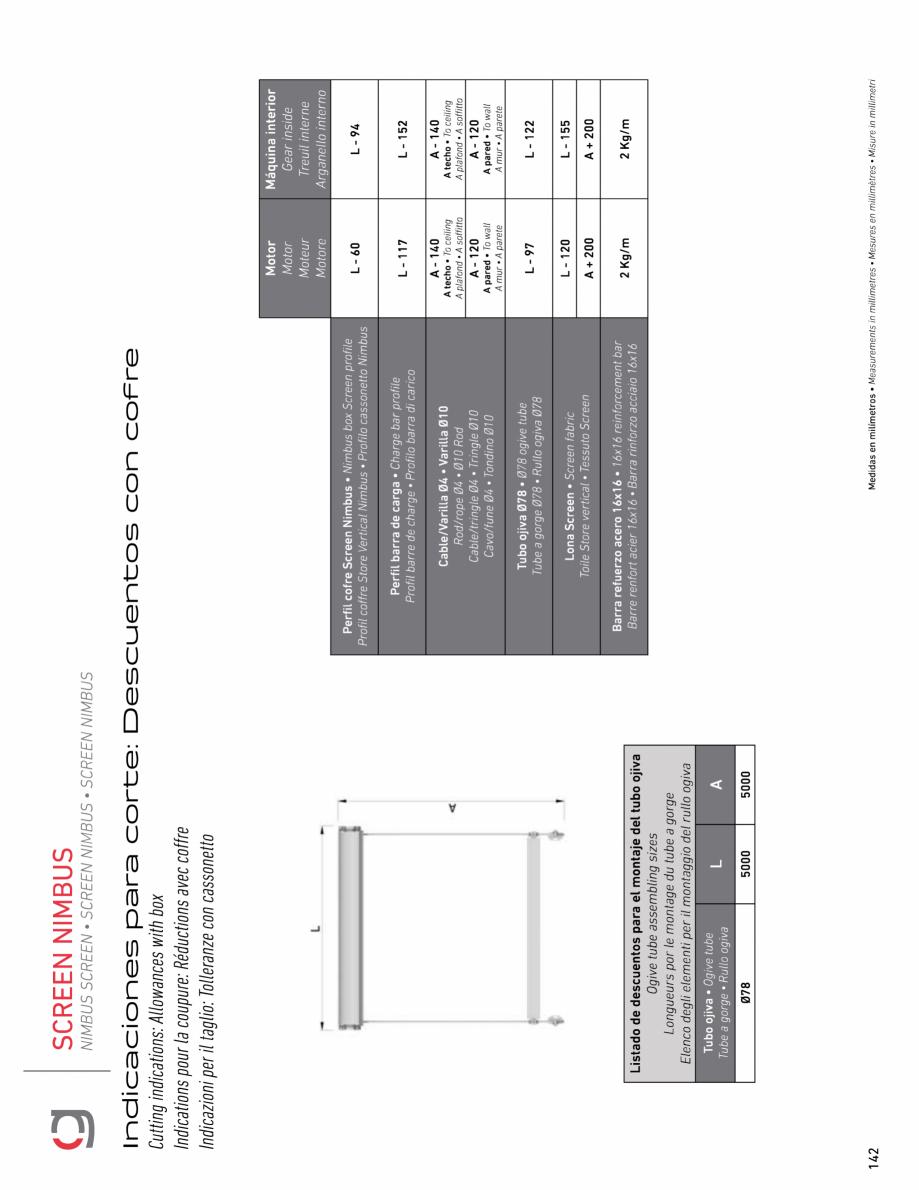 Pagina 14 - Rulou exterior GAVIOTA NIMBUS Fisa tehnica Engleza, Franceza, Italiana, Spaniola