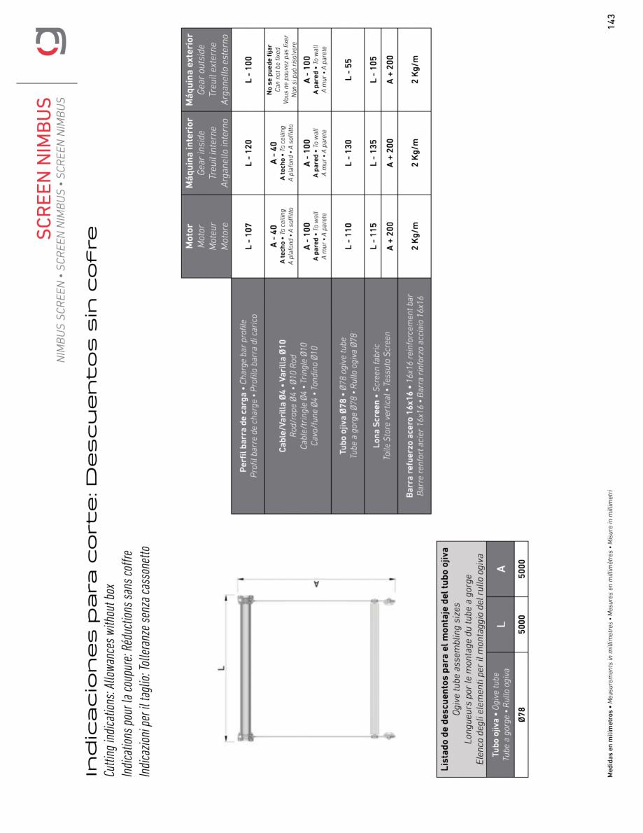 Pagina 15 - Rulou exterior GAVIOTA NIMBUS Fisa tehnica Engleza, Franceza, Italiana, Spaniola
