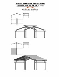 Manual de instalare parasolar cu structura, model horeca