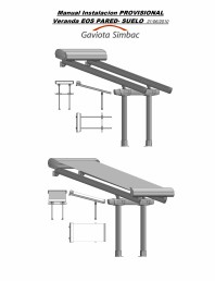 Manual de instalare parasolar cu prindere pe perete si stalpi frontali