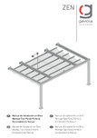 Manual instalare pergola retractabila, nivel 1 v2 GAVIOTA - ZEN
