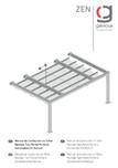 Manual instalare pergola retractabila, nivel 1 v1 GAVIOTA - ZEN