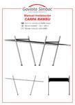 Manual de instalare copertina fixa GAVIOTA - BAMBU