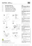 Instructiuni montaj pentru unitatea de prize KAPSA XXS BACHMANN -