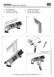 Instructiuni montaj soclu pentru panoul de racord  BACHMANN - DESK 2, Iotspot