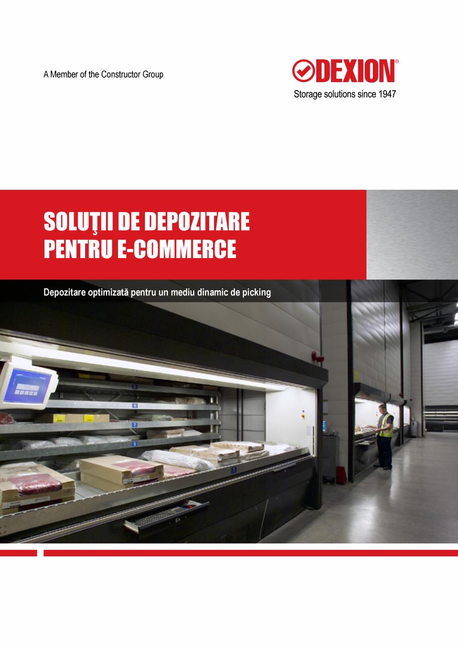 Pagina 1 - Solutii de depozitare pentru e-commerce DEXION HI280 Catalog, brosura Romana A Member of ...