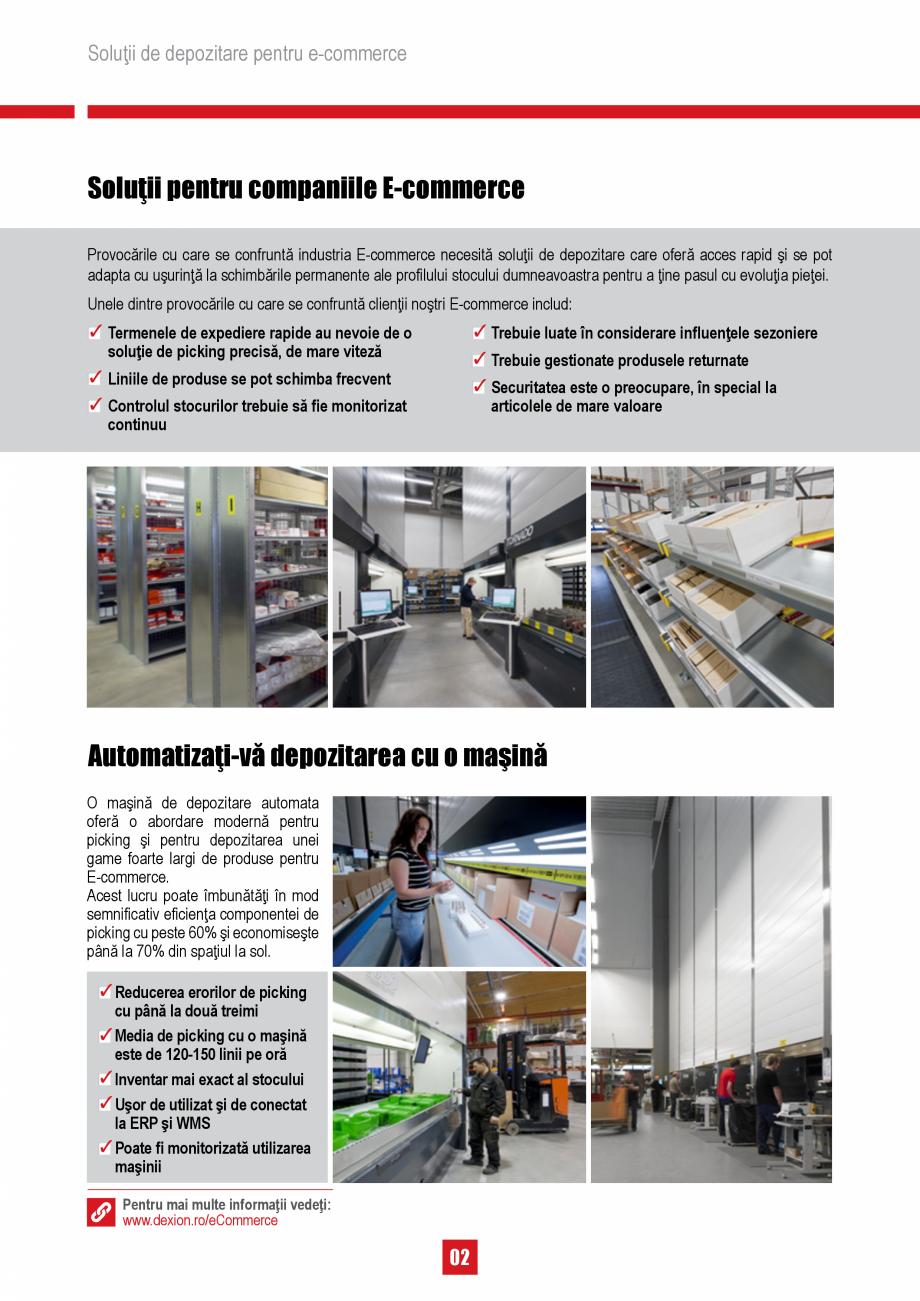Pagina 2 - Solutii de depozitare pentru e-commerce DEXION HI280 Catalog, brosura Romana � o abordare...