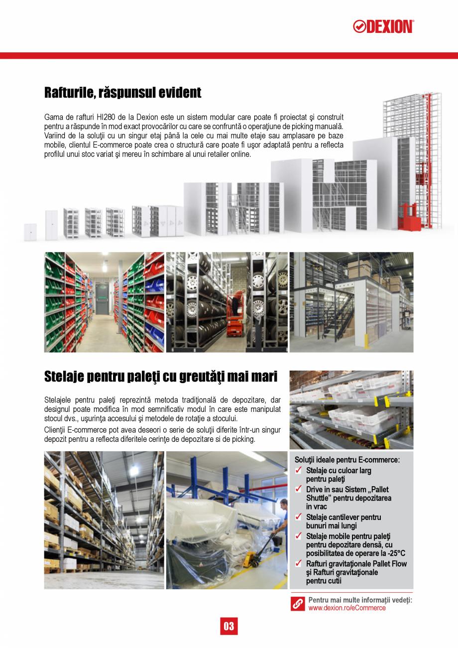 Pagina 3 - Solutii de depozitare pentru e-commerce DEXION HI280 Catalog, brosura Romana a profilul...