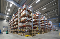 Rafturi si sisteme pentru depozitare paleti DEXION