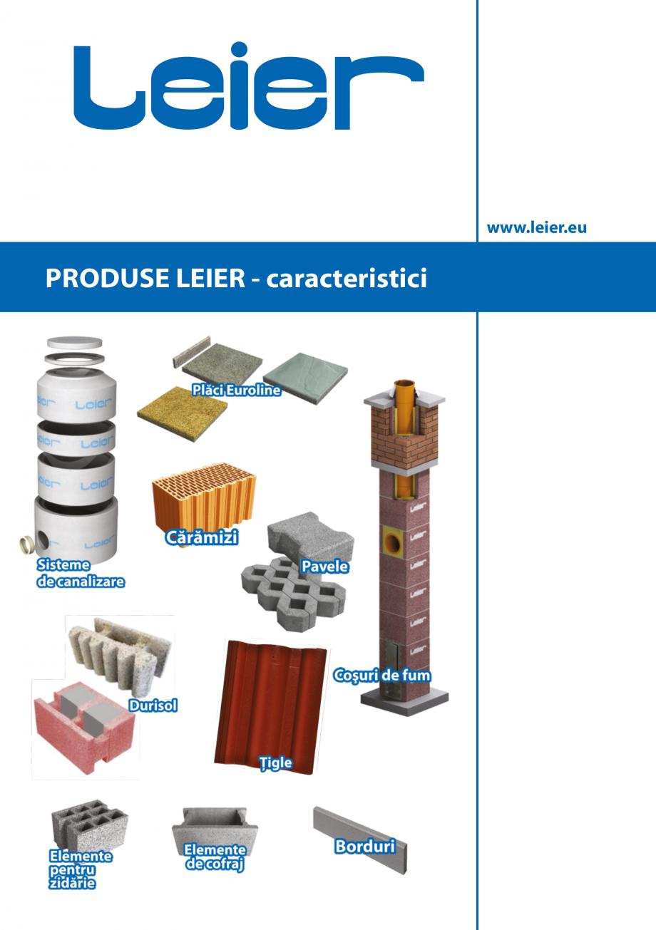 Pagina 1 - Pliant caracteristici produse LEIER  Durisol Catalog, brosura Romana www.leier.eu ...