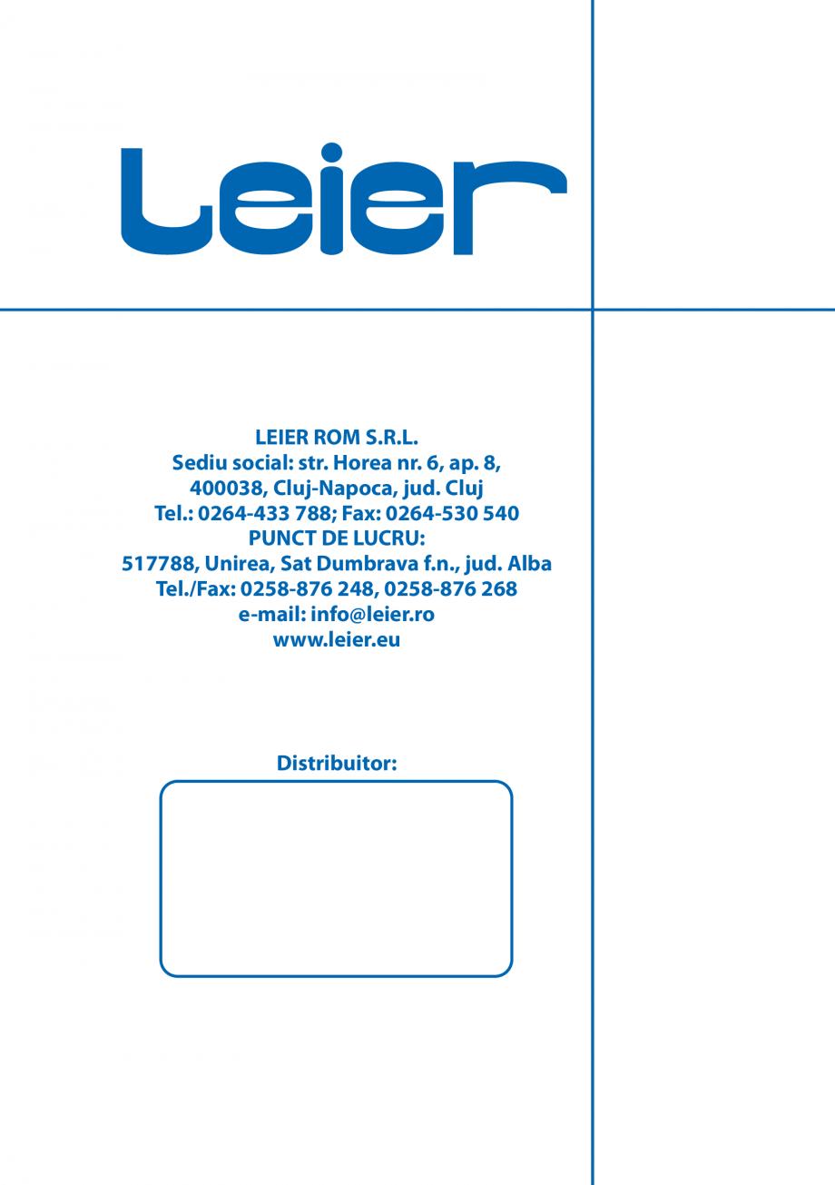 Pagina 12 - Pliant caracteristici produse LEIER  Durisol Catalog, brosura Romana   CSE 500 KG  500  ...