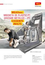 Mocheta de plastic pentru gratare metalice