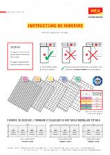 Instructiuni de montare module pentru poliţe de rafturi MEA