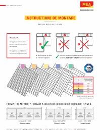 Instructiuni de montare module pentru poliţe de rafturi