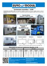 Container izolat monobloc EURO MODUL