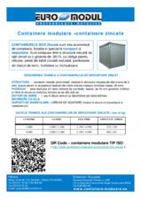 Containere modulare zincate EURO MODUL