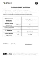 Certificat LEED Projects REX