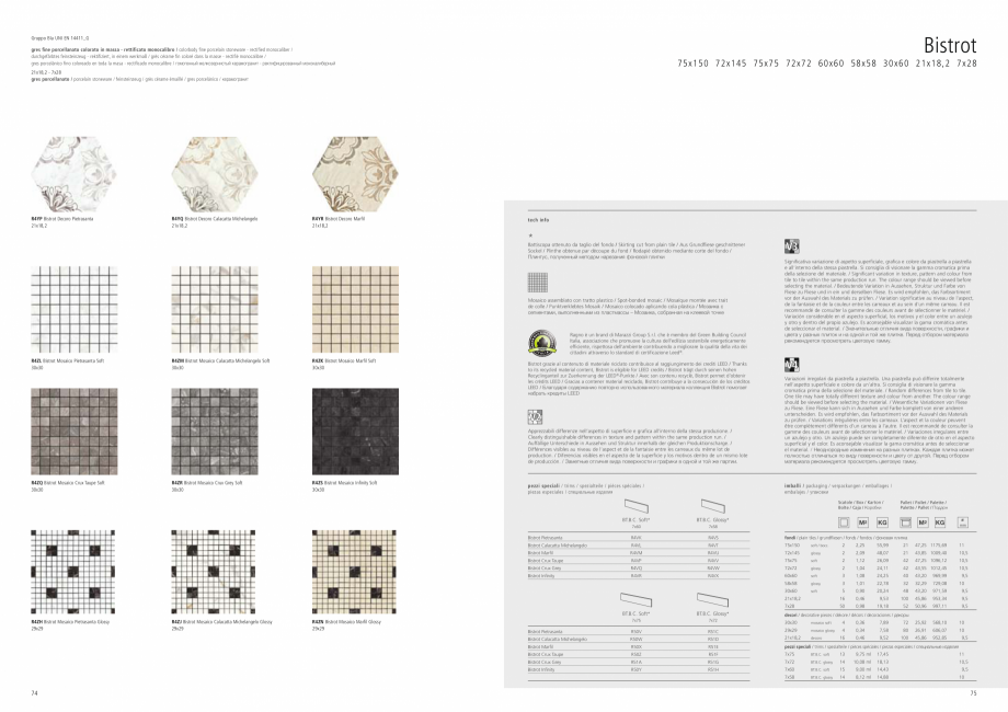 Pagina 39 - Set de faianta si gresie RAGNO BISTRO Catalog, brosura Engleza, Germana, Franceza,...