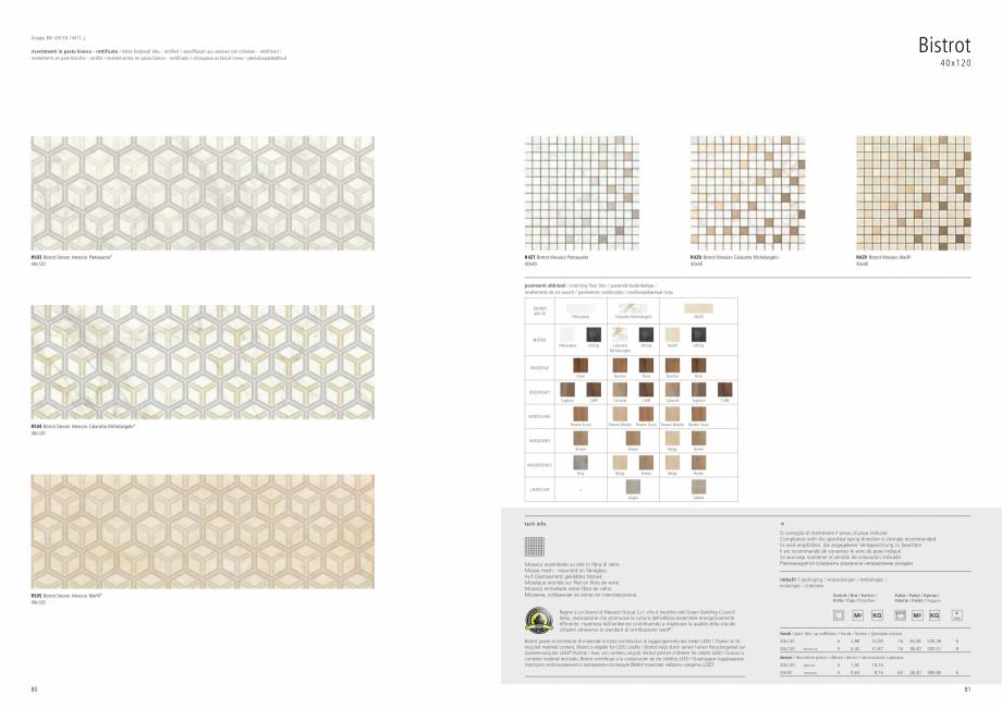 Pagina 42 - Set de faianta si gresie RAGNO BISTRO Catalog, brosura Engleza, Germana, Franceza,...