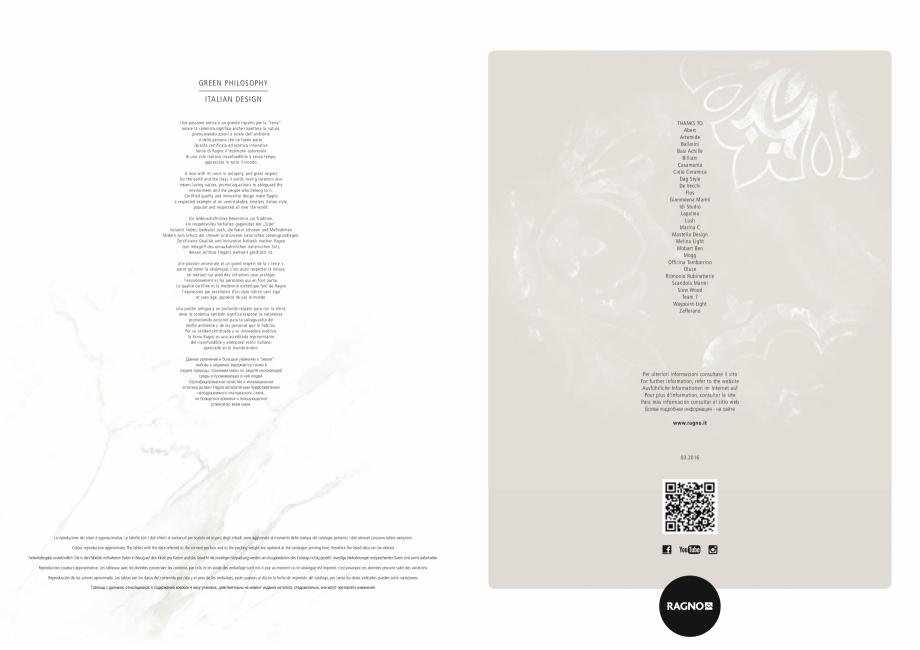 Pagina 44 - Set de faianta si gresie RAGNO BISTRO Catalog, brosura Engleza, Germana, Franceza,...