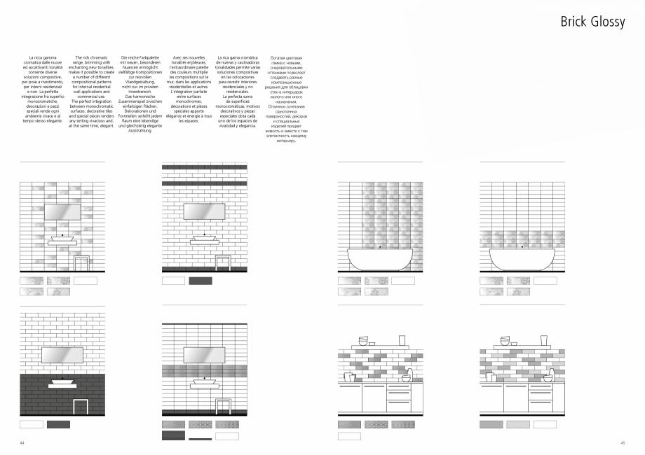 Pagina 23 - Set de faianta si gresie RAGNO BRICK GLOSSY Catalog, brosura Engleza, Germana, Franceza,...