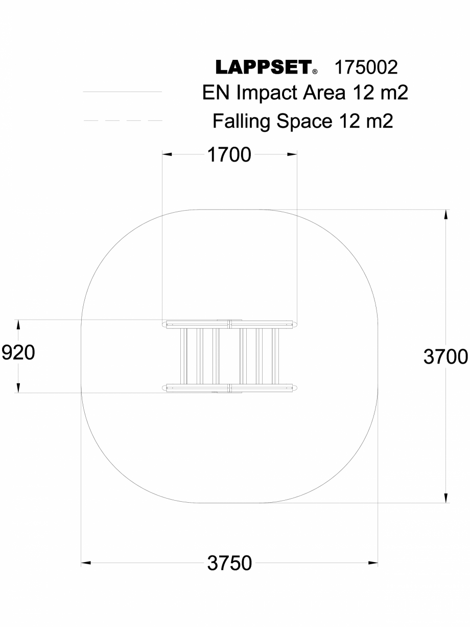Pagina 1 - CAD-DWG Echipament de joaca pentru copii - 175002 LAPPSET Detaliu de produs CLOVER