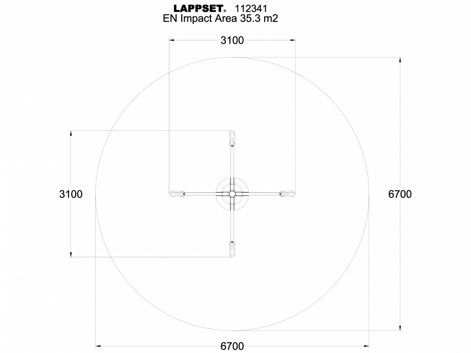 Pagina 1 - CAD-DWG Echipament de joaca pentru copii - 112341 LAPPSET Detaliu de produs CLOVER