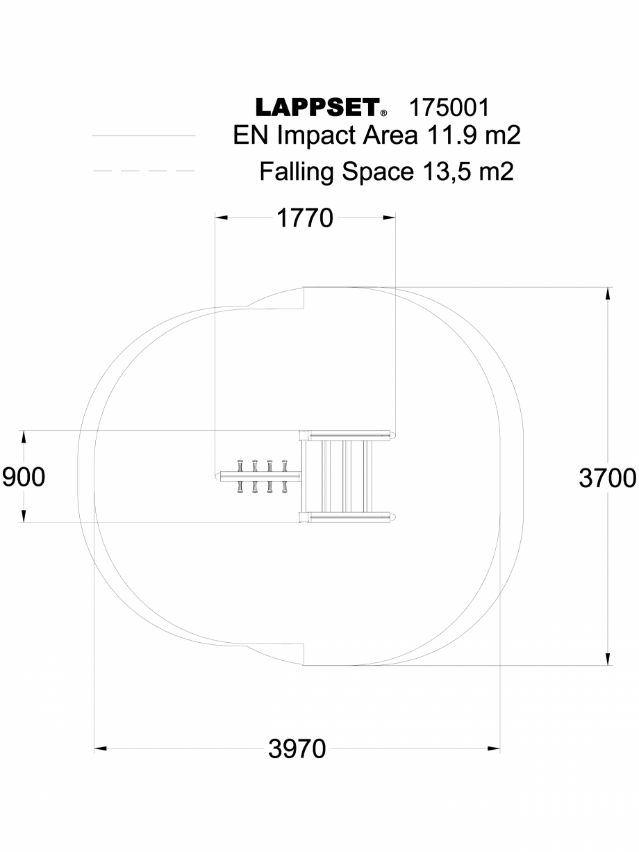Pagina 1 - CAD-DWG Echipament de joaca pentru copii - 175001 LAPPSET Detaliu de produs CLOVER