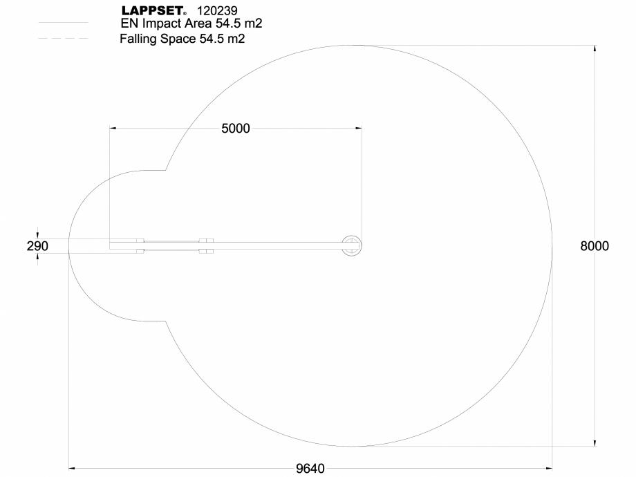 Pagina 1 - CAD-DWG Echipament de joaca pentru copii - 120239 LAPPSET Detaliu de produs CLOVER
