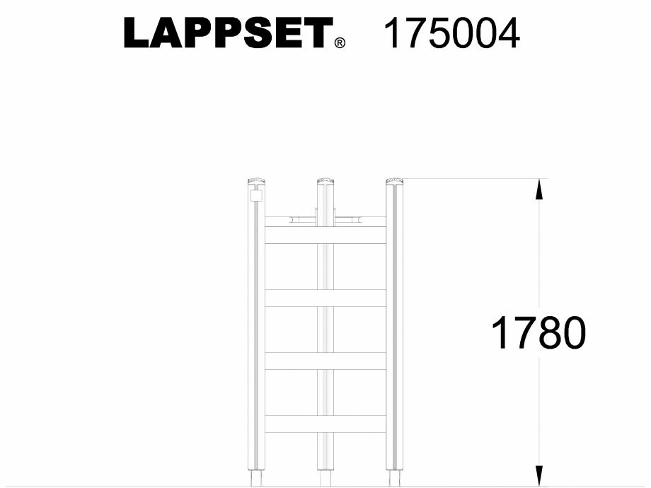 Pagina 1 - CAD-DWG Echipament de joaca pentru copii - 175004 LAPPSET Detaliu de produs CLOVER