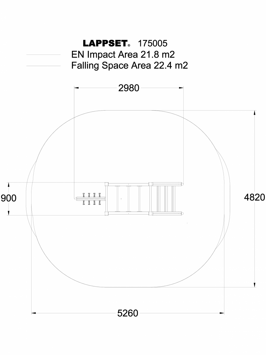Pagina 1 - CAD-DWG Echipament de joaca pentru copii - 175005 LAPPSET Detaliu de produs CLOVER