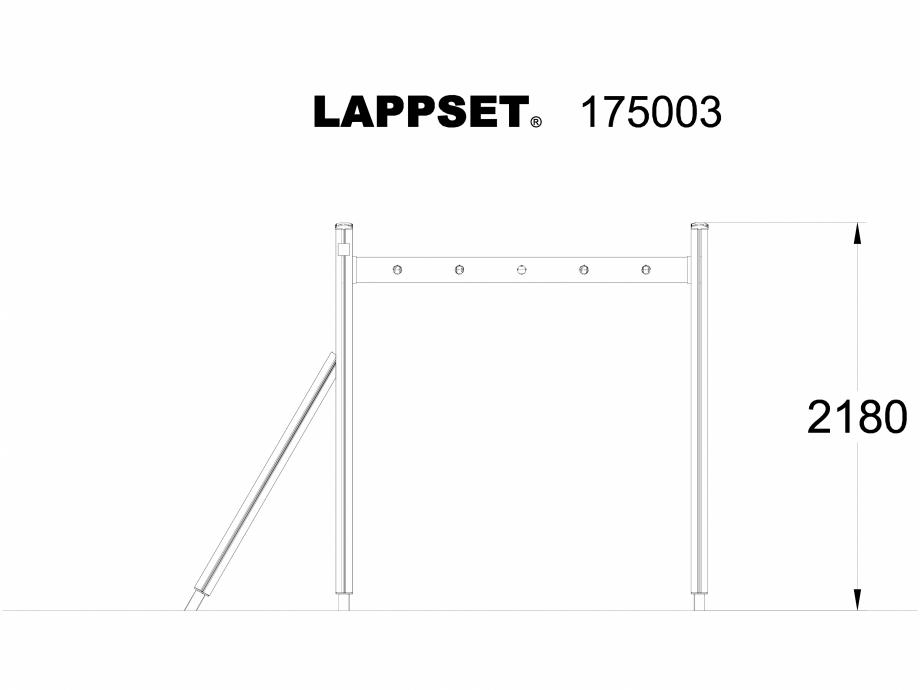 Pagina 1 - CAD-DWG Echipament de joaca pentru copii - 175003 LAPPSET Detaliu de produs CLOVER