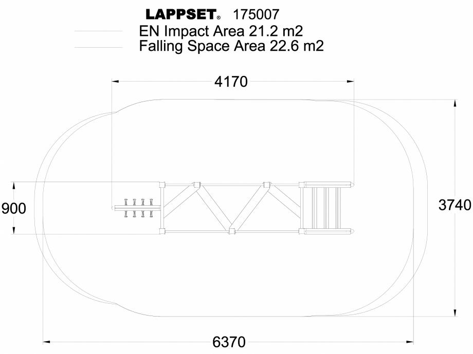 Pagina 1 - CAD-DWG Echipament de joaca pentru copii - 175007 LAPPSET Detaliu de produs CLOVER