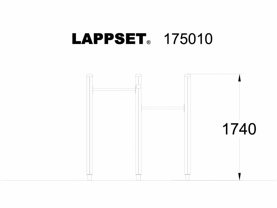 Pagina 1 - CAD-DWG Echipament de joaca pentru copii - 175010 LAPPSET Detaliu de produs CLOVER