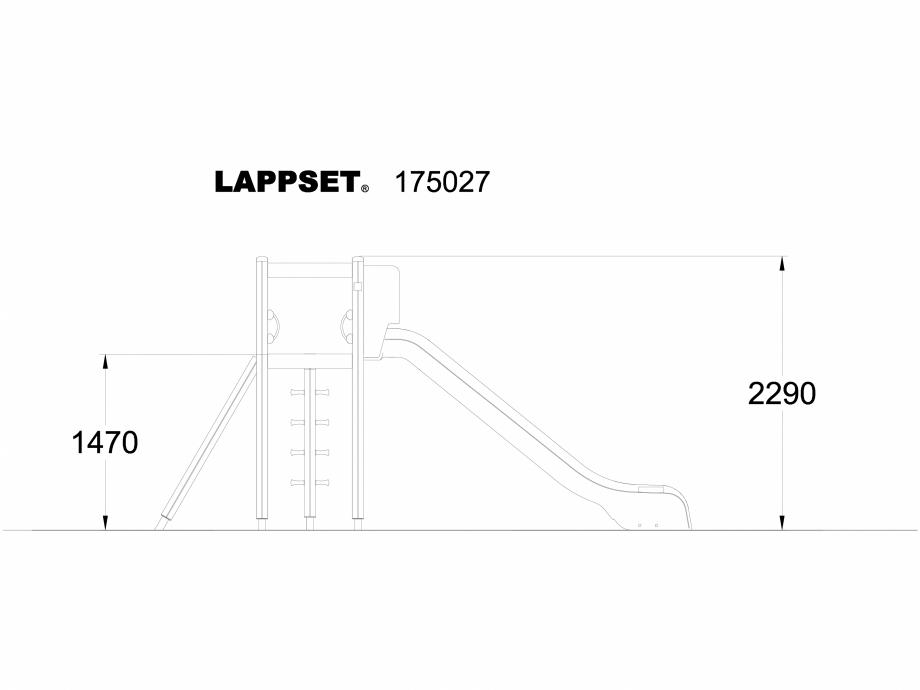 Pagina 1 - CAD-DWG Echipament de joaca pentru copii - 175027 LAPPSET Detaliu de produs CLOVER