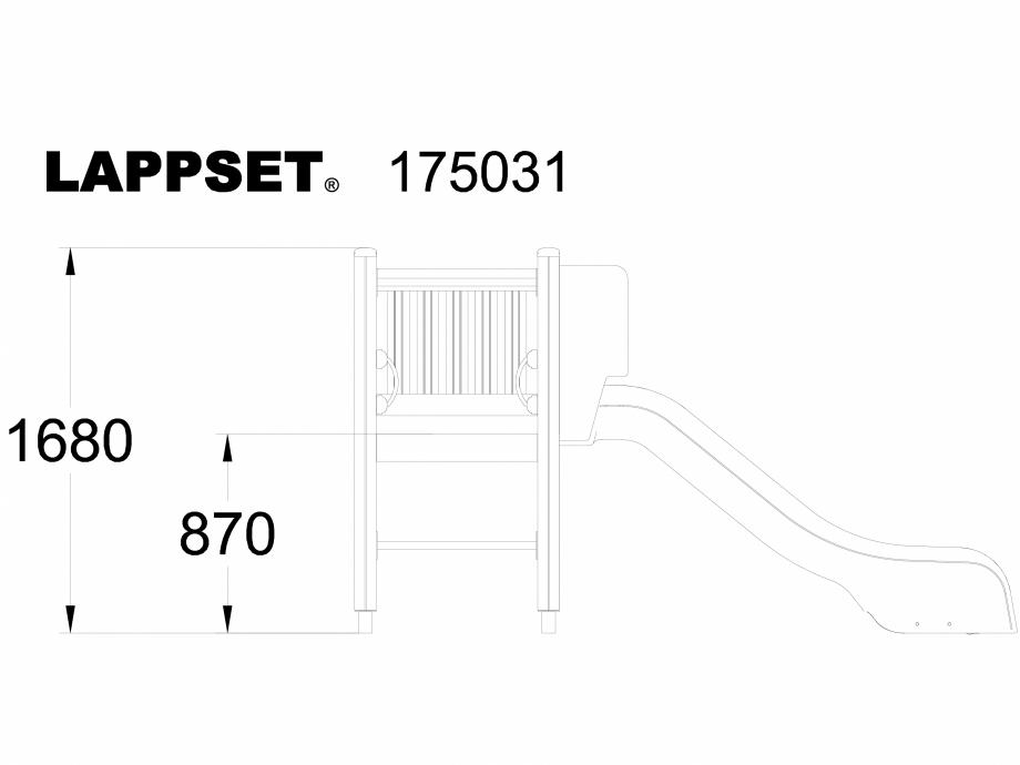 Pagina 1 - CAD-DWG Echipament de joaca pentru copii - 175031 LAPPSET Detaliu de produs CLOVER