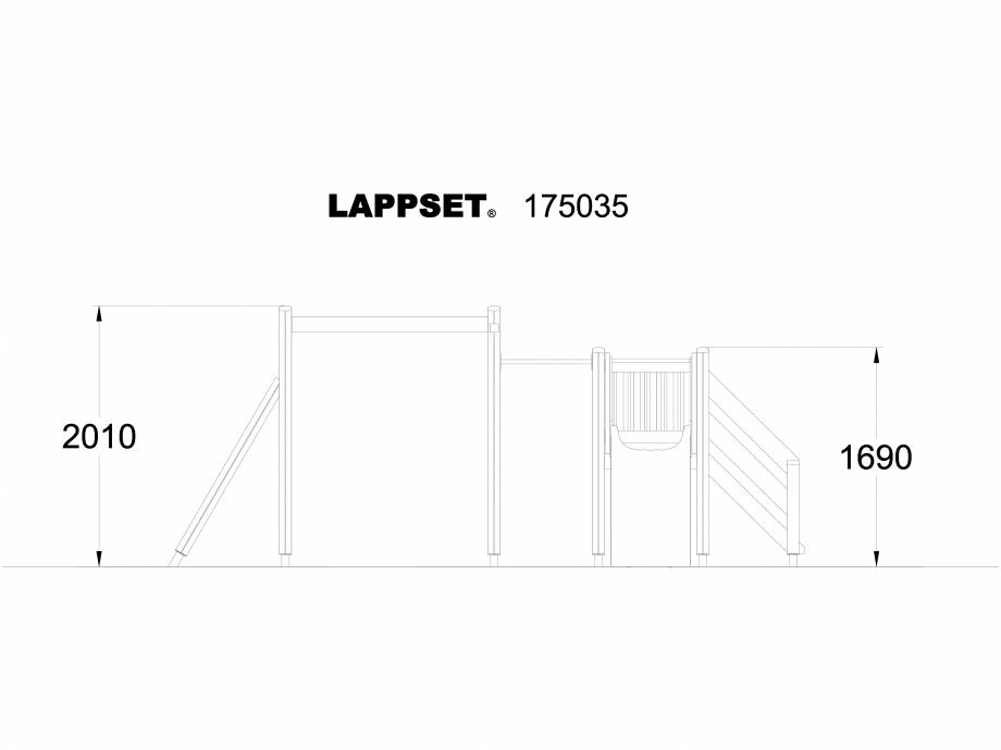 Pagina 1 - CAD-DWG Echipament de joaca pentru copii - 175035 LAPPSET Detaliu de produs CLOVER