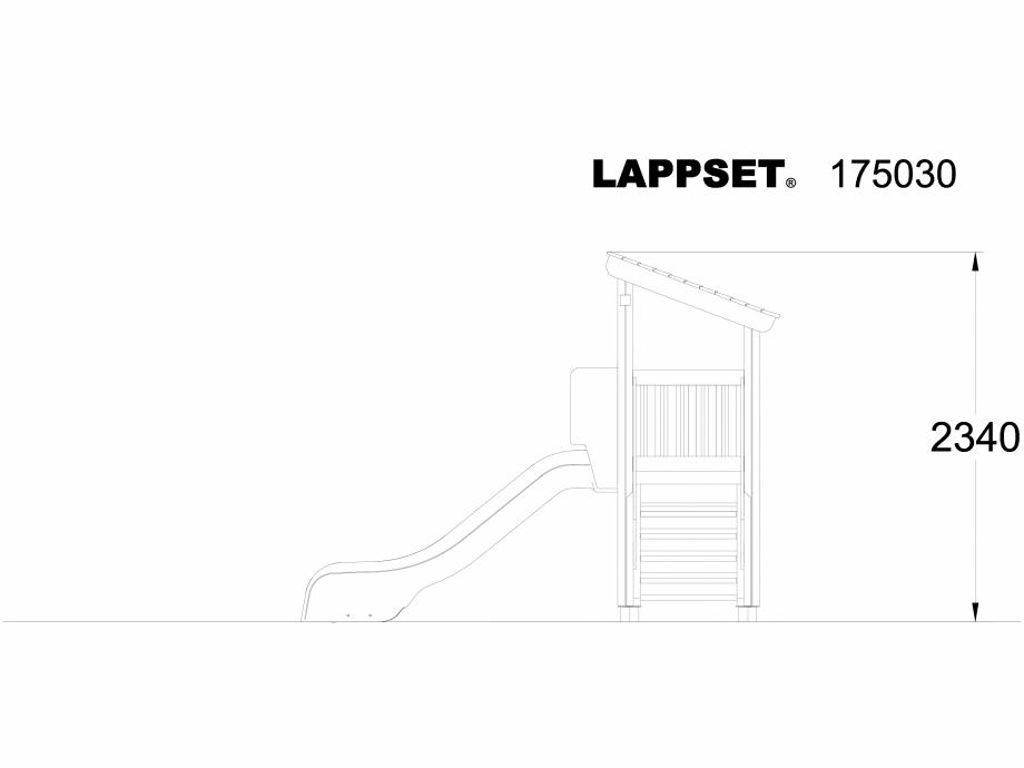 Pagina 1 - CAD-DWG Echipament de joaca pentru copii - 175030 LAPPSET Detaliu de produs CLOVER