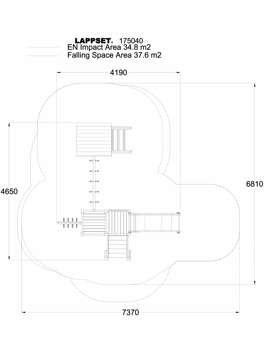 Pagina 1 - CAD-DWG Echipament de joaca pentru copii - 175040 LAPPSET Detaliu de produs CLOVER