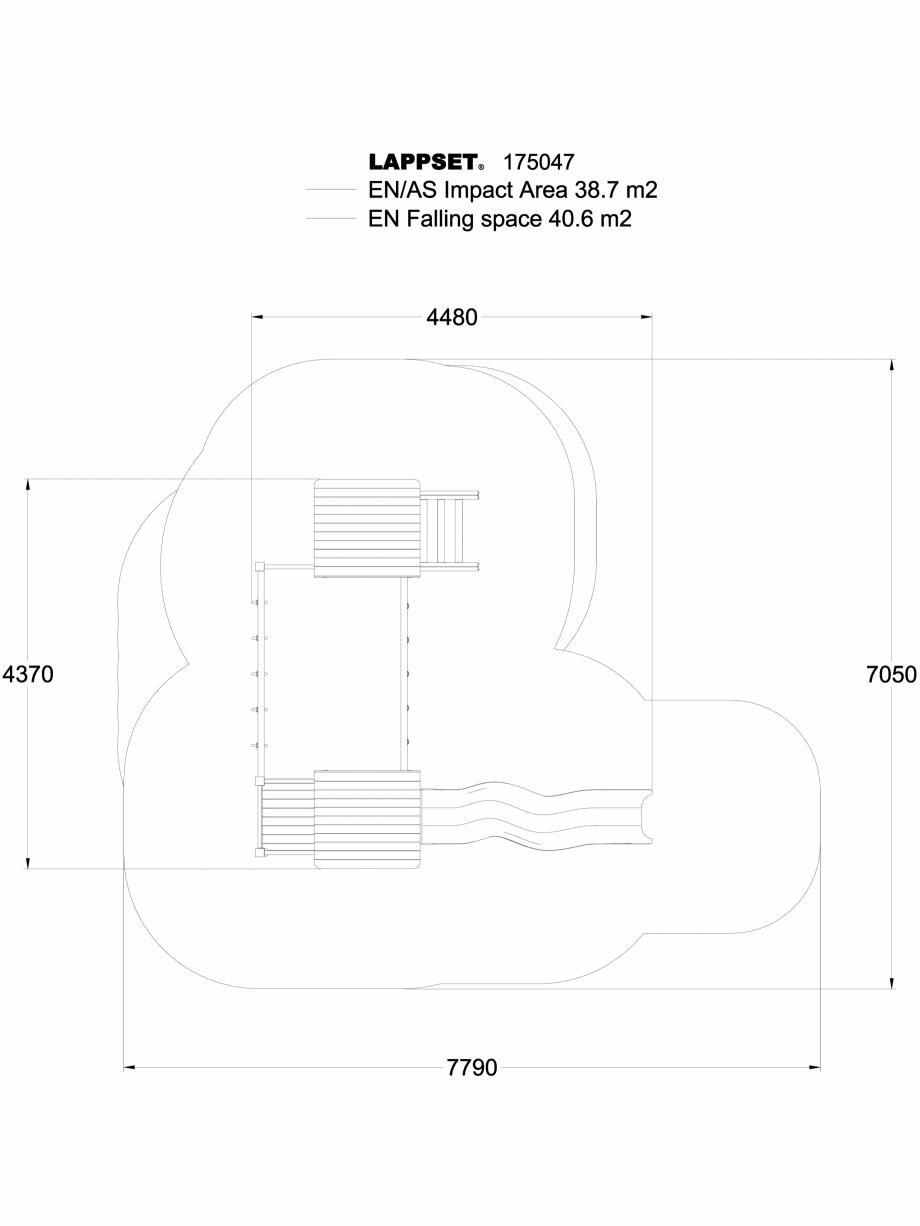 Pagina 1 - CAD-DWG Echipament de joaca pentru copii - 175047 LAPPSET Detaliu de produs CLOVER
