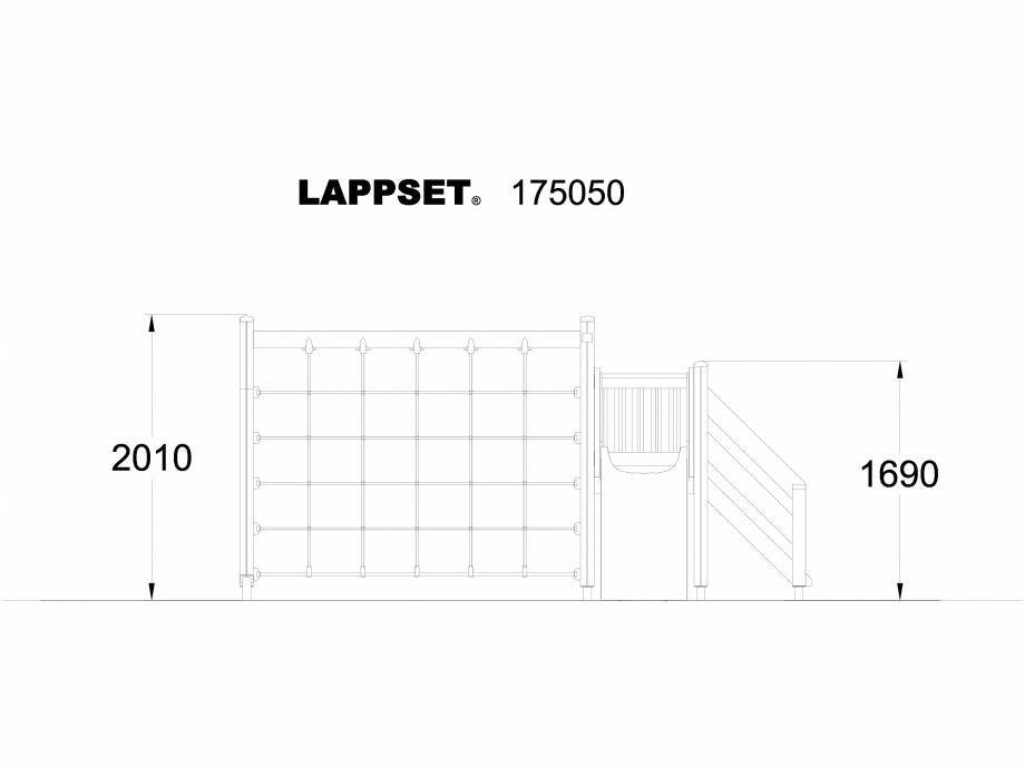Pagina 1 - CAD-DWG Echipament de joaca pentru copii - 175050 LAPPSET Detaliu de produs CLOVER