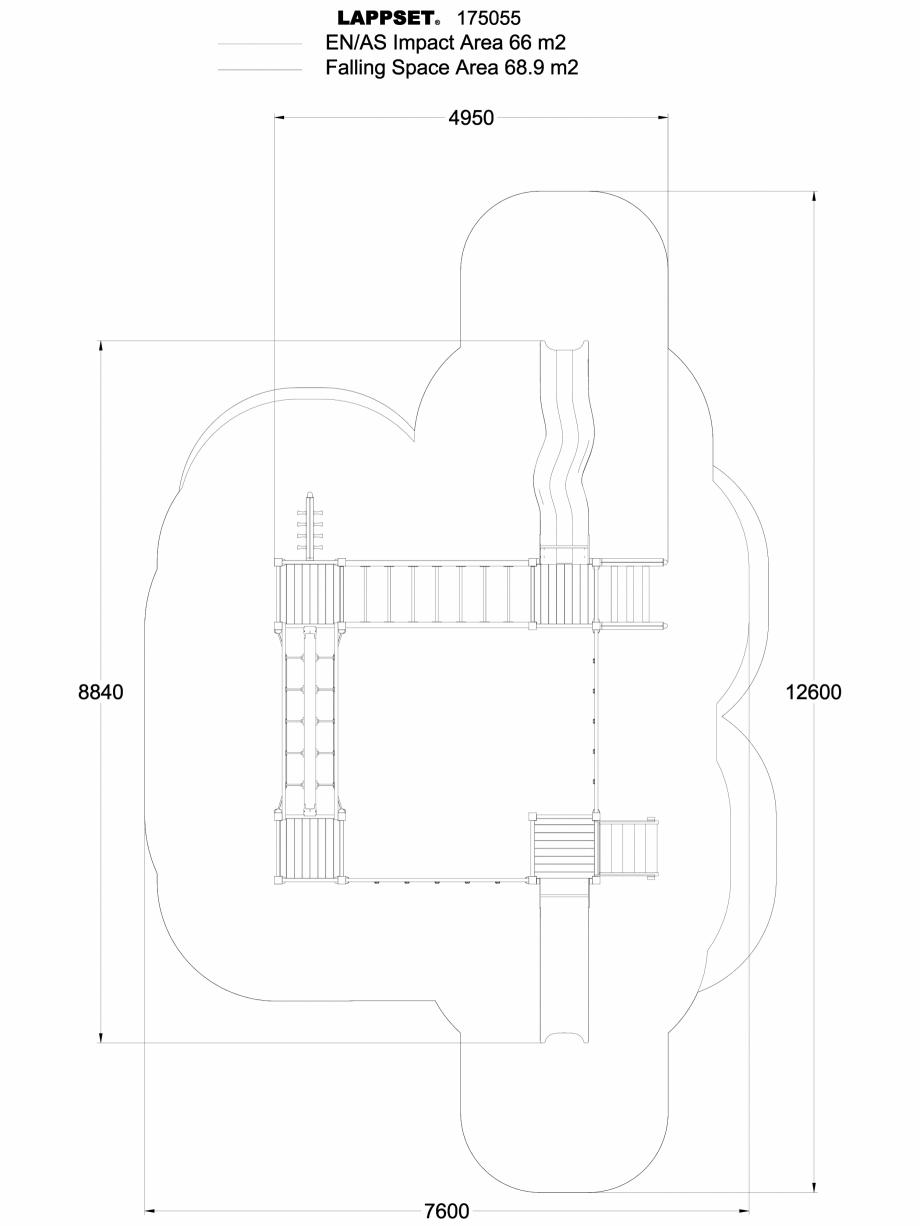 Pagina 1 - CAD-DWG Echipament de joaca pentru copii - 175055 LAPPSET Detaliu de produs CLOVER