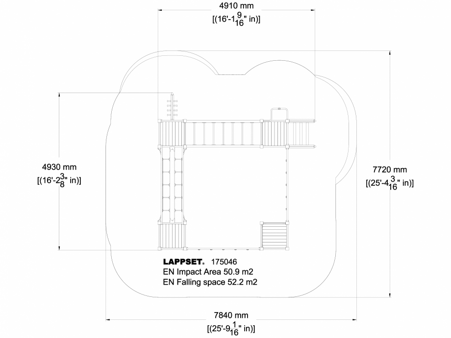 Pagina 1 - CAD-DWG Echipament de joaca pentru copii - 175046 LAPPSET Detaliu de produs CLOVER