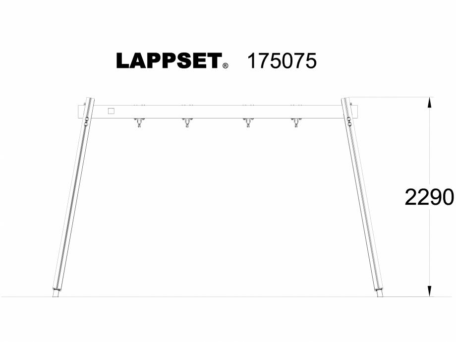 Pagina 1 - CAD-DWG Echipament de joaca pentru copii - 175075 LAPPSET Detaliu de produs CLOVER