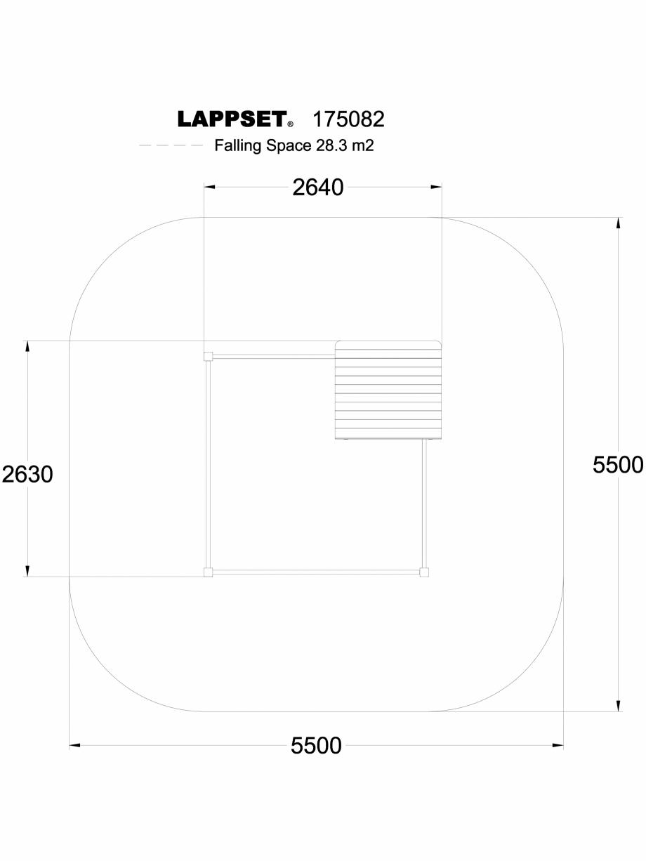 Pagina 1 - CAD-DWG Echipament de joaca pentru copii - 175082 LAPPSET Detaliu de produs CLOVER