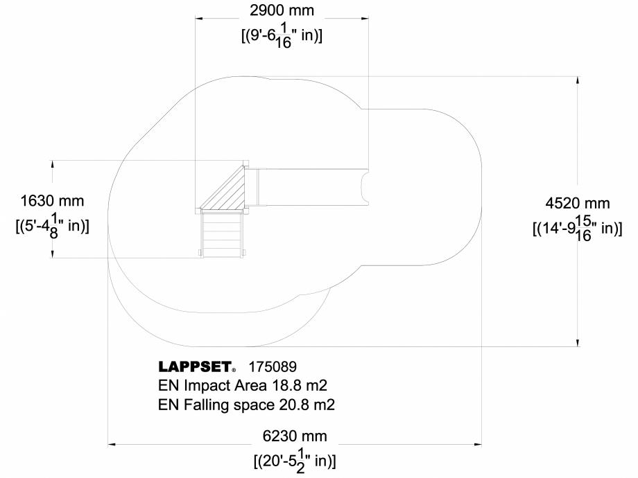 Pagina 1 - CAD-DWG Echipament de joaca pentru copii - 175089 LAPPSET Detaliu de produs CLOVER