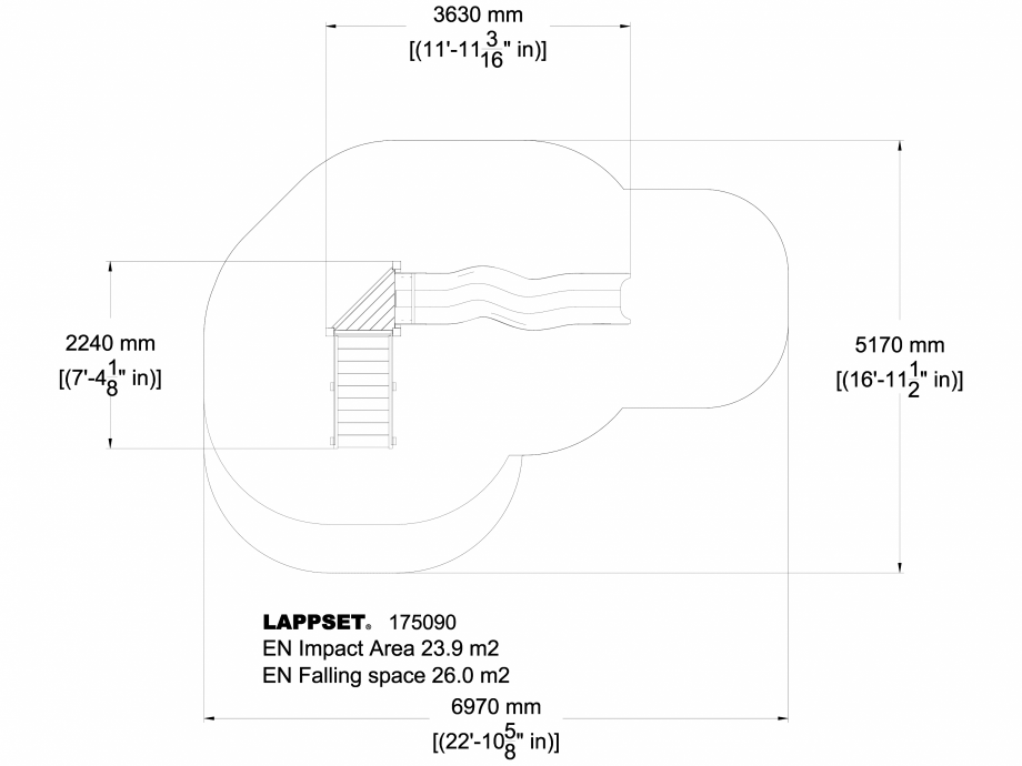 Pagina 1 - CAD-DWG Echipament de joaca pentru copii - 175090 LAPPSET Detaliu de produs CLOVER