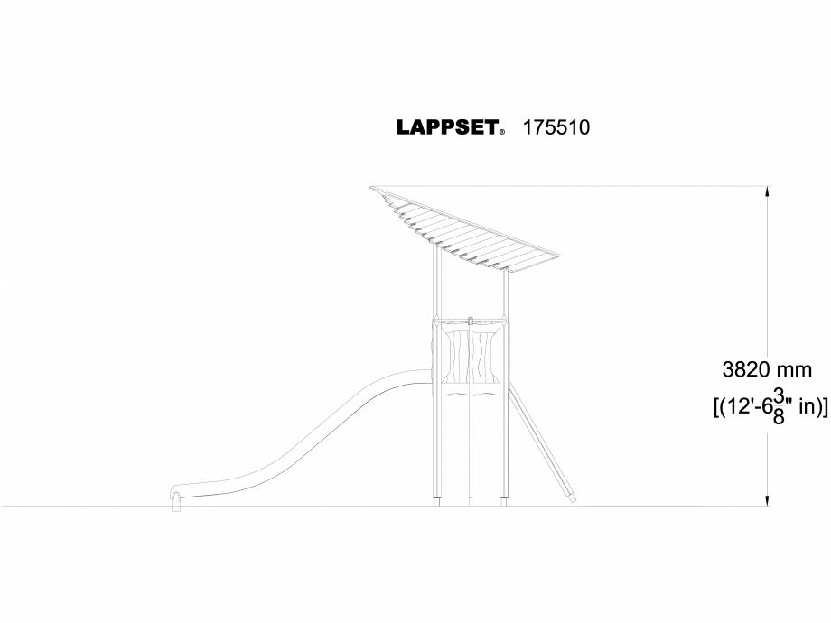 Pagina 1 - CAD-DWG Echipament de joaca pentru copii - 175510(1) LAPPSET Detaliu de produs FLORA